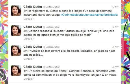 Le tweet de Cécile Duflot