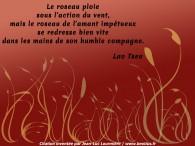 Le roseau selon Lao Tseu (citation apocryphe)